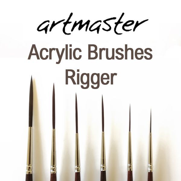 Artmaster Acrylic Paint Brushes Series 63: Rigger