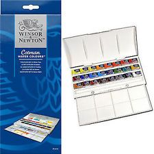 Winsor and Newton Cotman Studio 24 Whole Pan Watercolour Set